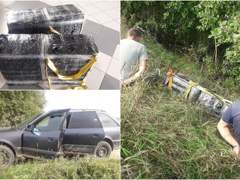 """Pasieniečių """"laimikis"""": į pasalą pateko du cigarečių gabentojai iš Baltarusijos"""