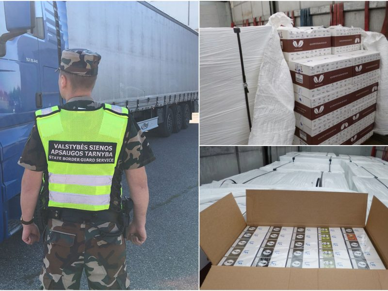 Pasieniečiai sulaikė milijono eurų vertės kontrabandinių cigarečių krovinį