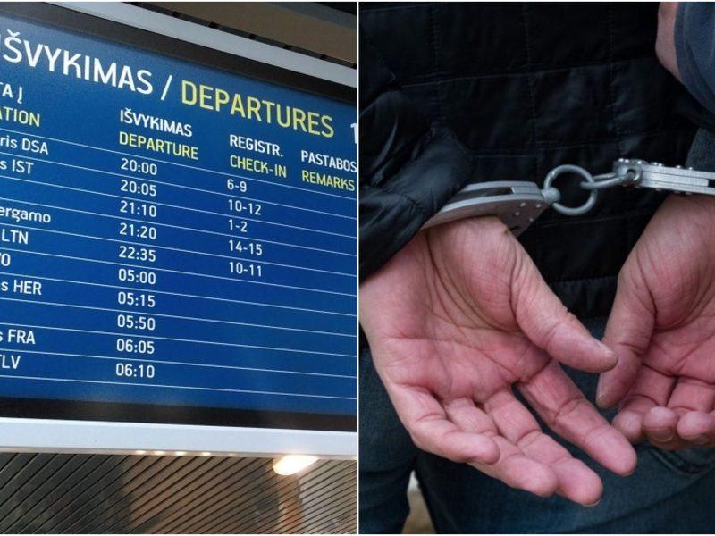 Vilniaus oro uoste sulaikytas teisingumo vengęs kaunietis