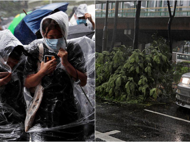 Honkongą užklupo audra: atšauktos pamokos, darbuotojai išleidžiami namo