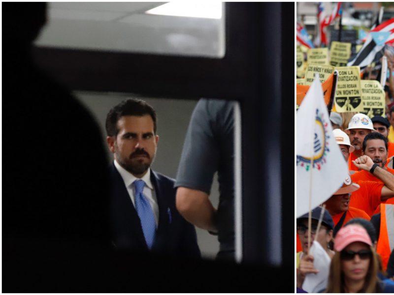 Puerto Rike vykstant protestams atsistatydina gubernatorius R. Rosellas