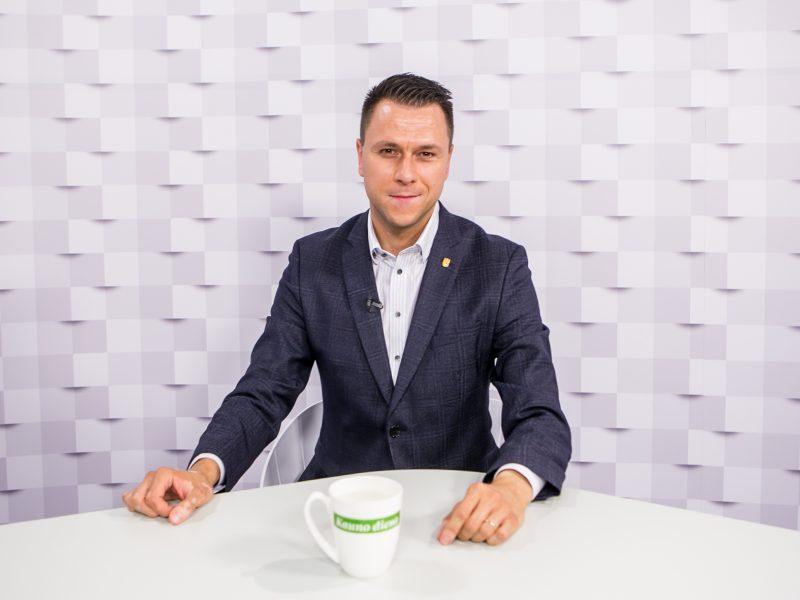 """""""Kauno dienos"""" studija: E. Stankevičius – apie artėjantį pasaulio salės futbolo čempionatą Lietuvoje"""