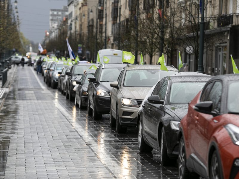 "Sanatorijos ""Belorus"" darbuotojų protestas Vilniuje"
