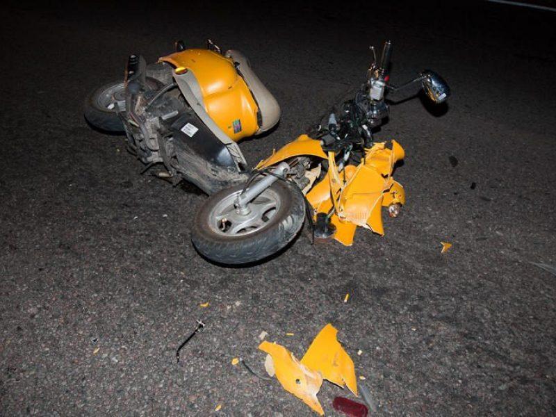 Vilkaviškyje per avariją nukentėjo mopedą vairavęs paauglys