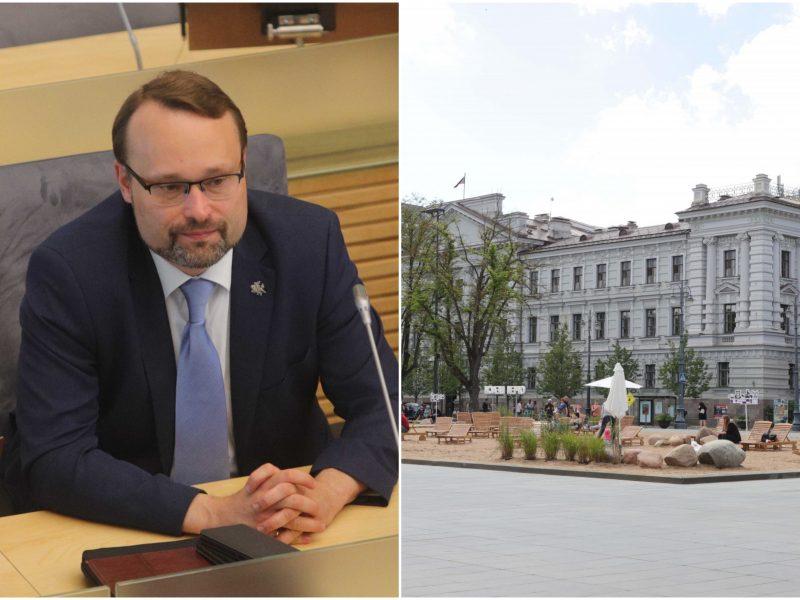Kultūros ministras apie diskusijas dėl Lukiškių aikštės: tikiu, kad galime susitarti