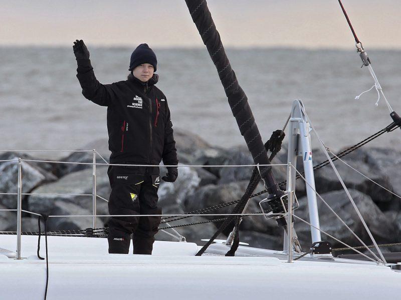 G. Thunberg per Atlantą keliauja į Madridą: ar spės į Pasaulio klimato konferenciją?