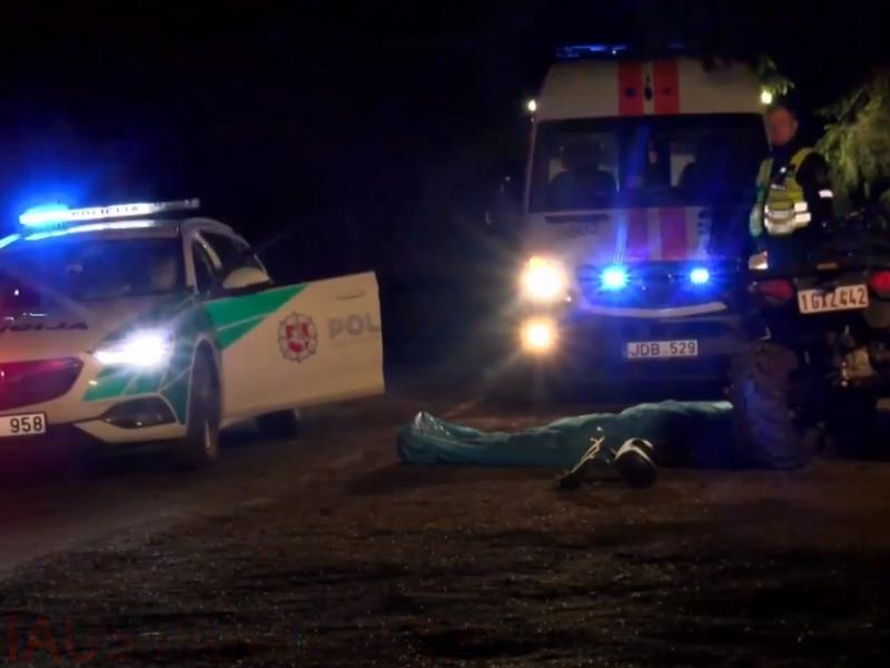Skaudi nelaimė Vilniuje: žuvo keturračio vairuotojas
