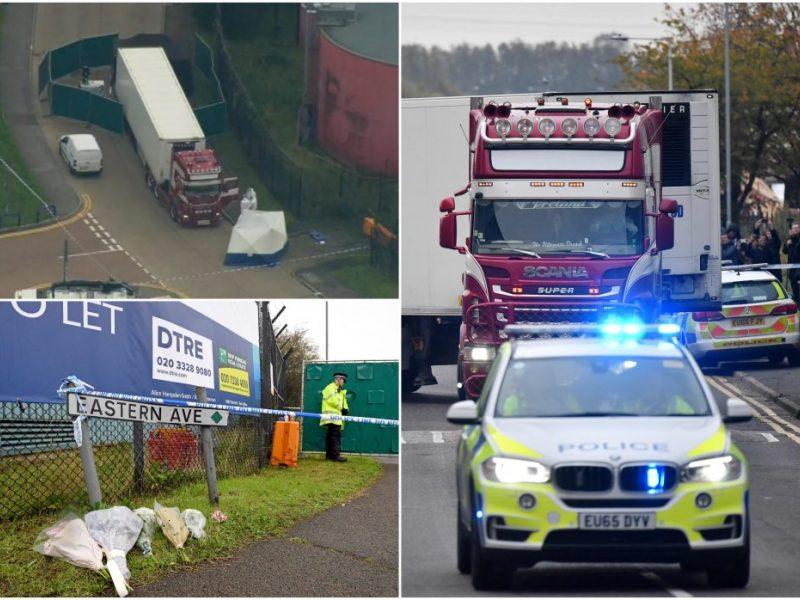 D. Britanijos policija: tarp 39 sunkvežimyje rastų aukų – dešimt paauglių