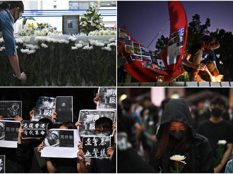 Honkonge protesto metu mirė parkritęs studentas: aktyvistai nerimsta