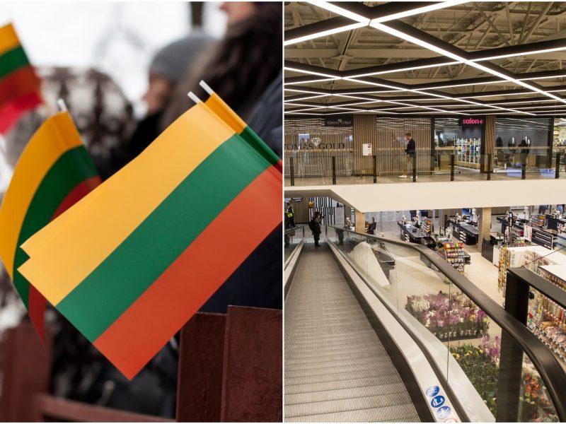 Siūlymas didiesiems prekybos centrams – nedirbti Vasario 16-ąją