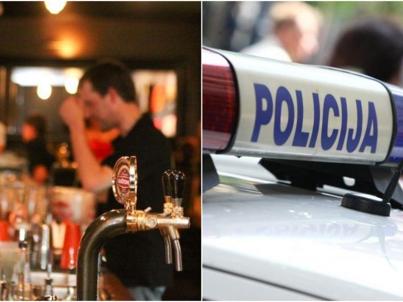 Policija tramdo pažeidėjus: baras ir ūkinių prekių parduotuvė nesilaikė karantino