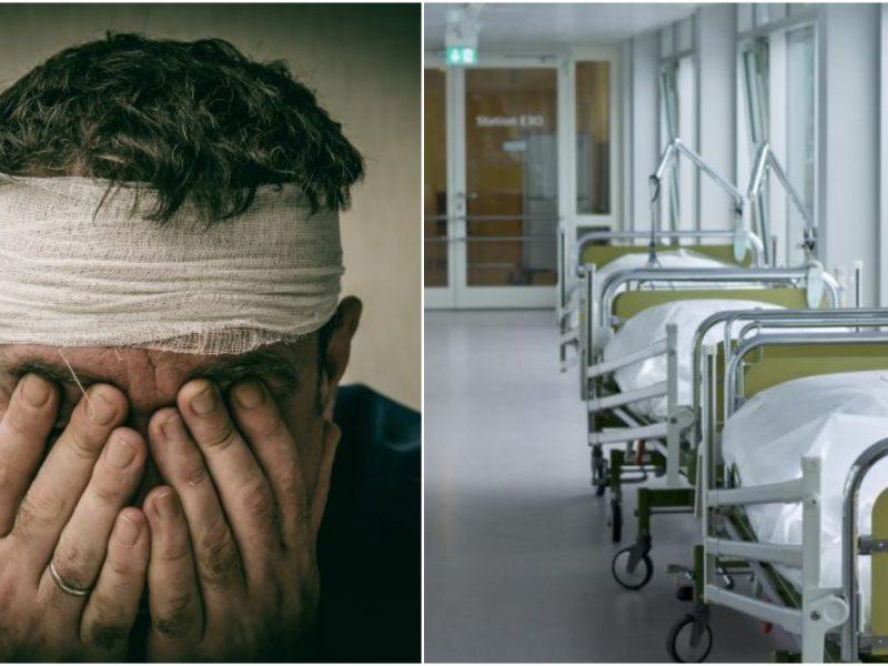 Panevėžio ligoninėje atsidūrė sunkią galvos traumą patyręs vyras