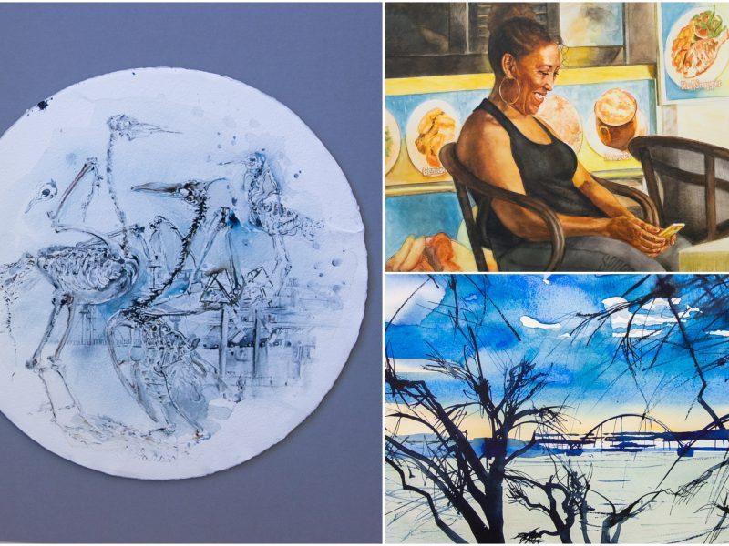Plenere – akvarelės materija ir iš jos sudaryti skirtingi pasauliai