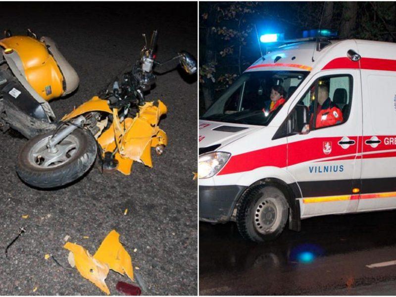 Vilniuje per avariją nukentėjo mopedą vairavęs nepilnametis