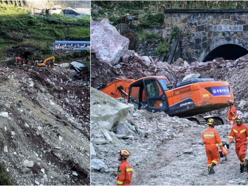 Kinijoje nuslinko žemės nuošliauža: ieškoma septyniolikos darbininkų