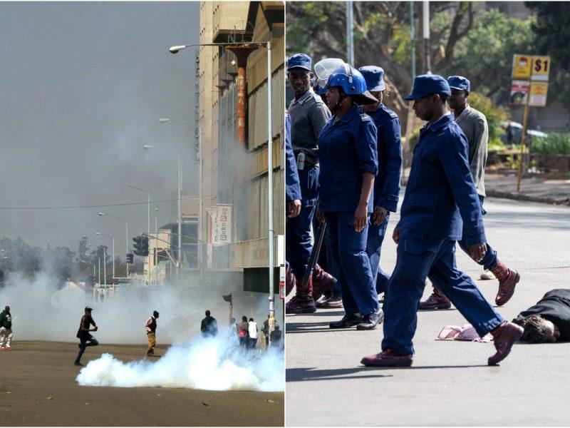 Zimbabvės policija protestuotojus išvaikė ašarinėmis dujomis ir smūgiais lazdomis