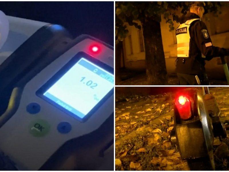 Vilniuje surengtas paspirtukų reidas: pareigūnų dėmesio sulaukė ir išgėrę, ir pavyzdingi vairuotojai