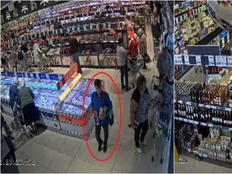 Alytaus policija ieško vyrų, kurie parduotuvėje nesiteikė sumokėti už prekes