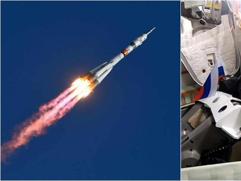 """Rusija pasiuntė į kosmosą savo pirmąjį robotą """"FEDOR"""""""