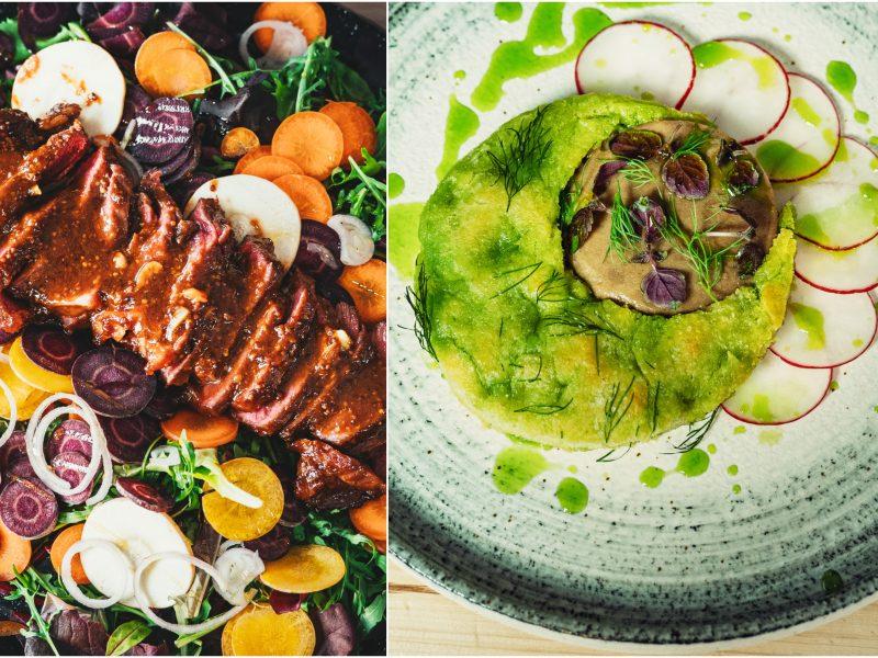 Pavasaris lėkštėje: svogūnų laiškų duonelė, kvapnus paštetas ir spalvingos salotos