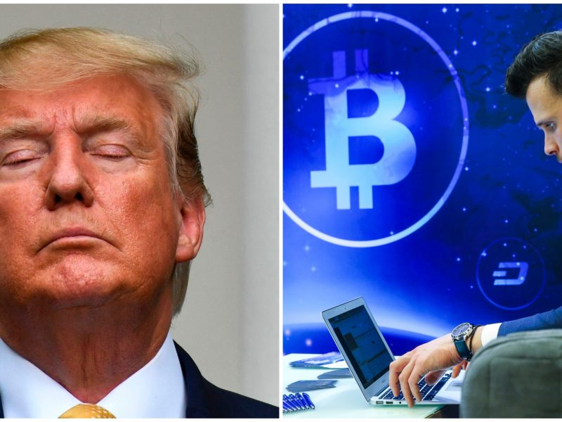 D. Trumpas: bitkoinas ir kriptovaliutos negali būti laikomi pinigais