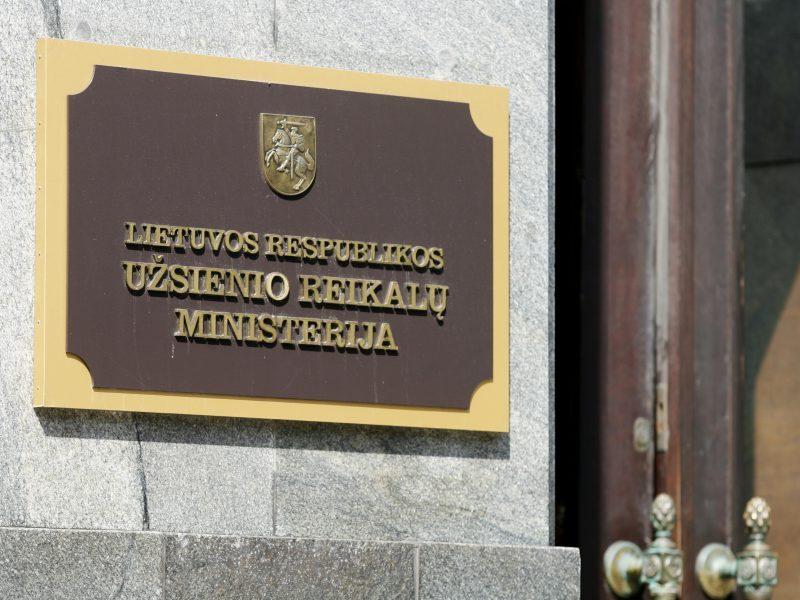 URM Maskvos kaltinimus dėl protestų Baltarusijoje vadina melaginga propaganda