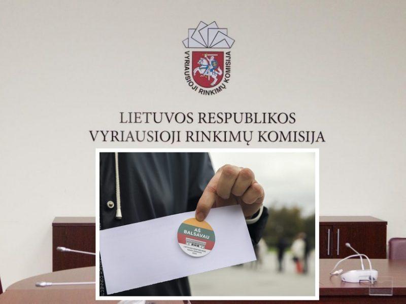 VRK patvirtino Seimo rinkimų rezultatus trijose vienmandatėse apygardose
