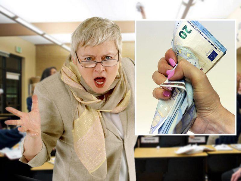 Švietimo darbuotojai reikalauja, kad atlyginimai kiltų nuo sausio, o ne nuo kito rugsėjo