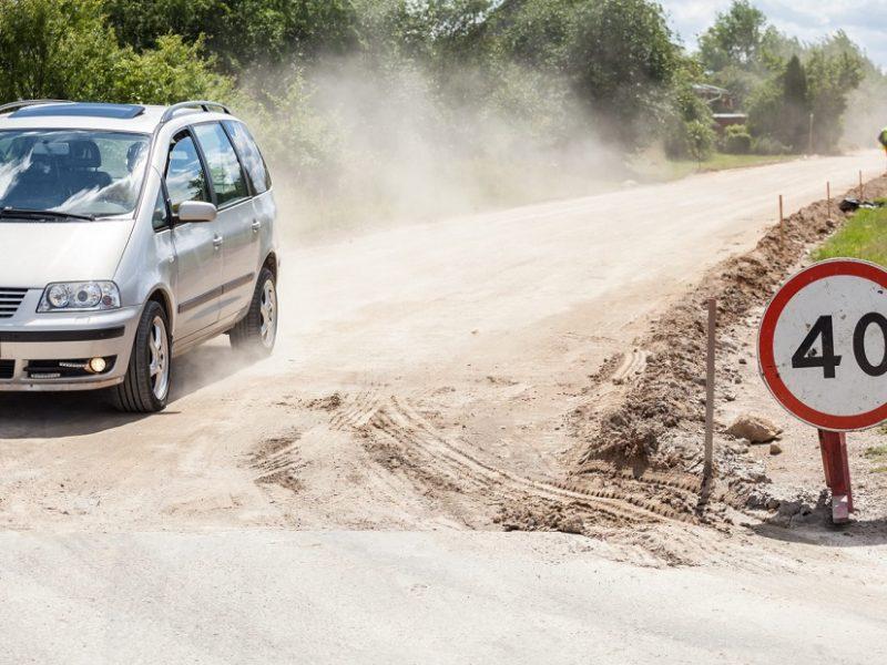 Vilniuje šį rudenį bus išasfaltuoti dar šeši kilometrai žvyrkelių