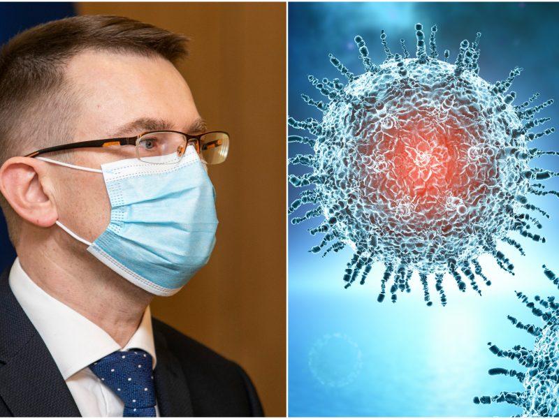 Sveikatos apsaugos ministras: labai neramina naujos viruso atmainos