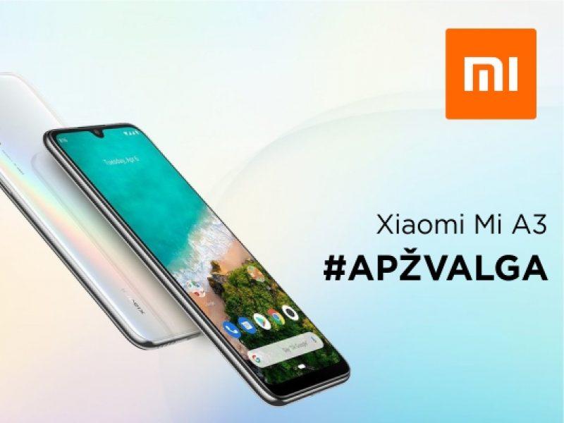 """""""Xiaomi Mi A3"""" apžvalga: ekspertai atkleidė, kuo išsiskiria šis išmanusis telefonas"""