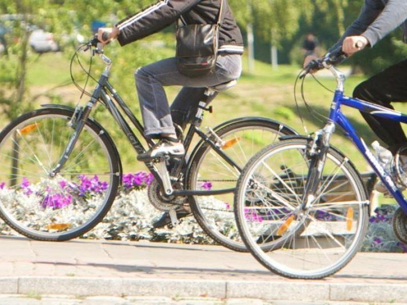 Kalniečių parke dviratininkas sužalojo senolę ir palikęs ją pasišalino