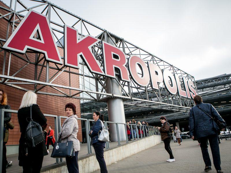 """Dėl dūmų iš Kauno """"Akropolio"""" evakuoti žmonės"""