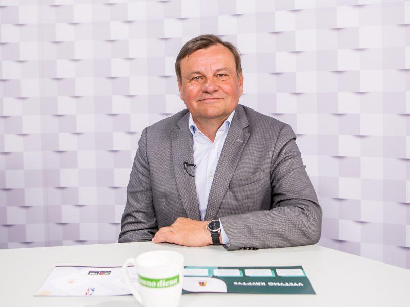 """""""Kauno dienos"""" studijoje – kandidatas į LKF prezidento postą V. Gedvilas"""