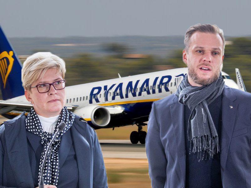 """I. Šimonytė kritiką ministrui vadina nesusipratimu: """"Ryanair"""" lėktuvą užgrobė ne Landsbergis"""