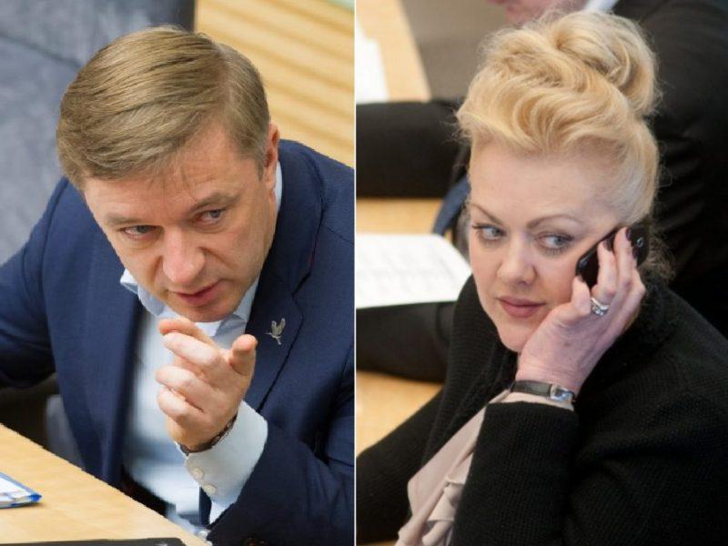 """""""Valstiečių"""" lyderis norėtų, kad dėl I. Rozovos būtų atliktas tyrimas"""