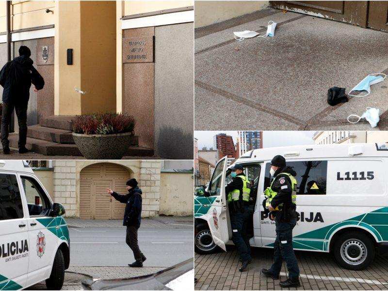 Protestas prieš kaukių dėvėjimą Klaipėdoje – komiškas: jo pareigūnai net nespėjo pastebėti