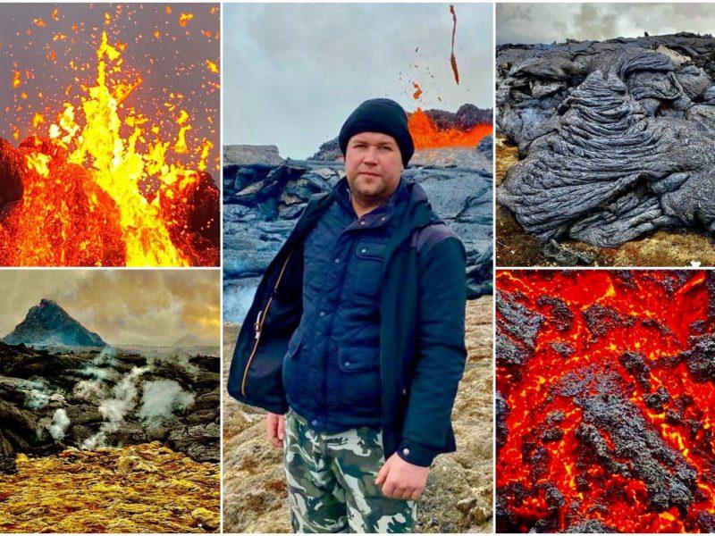 Lietuvis iš arti stebi prabudusį Islandijos ugnikalnį