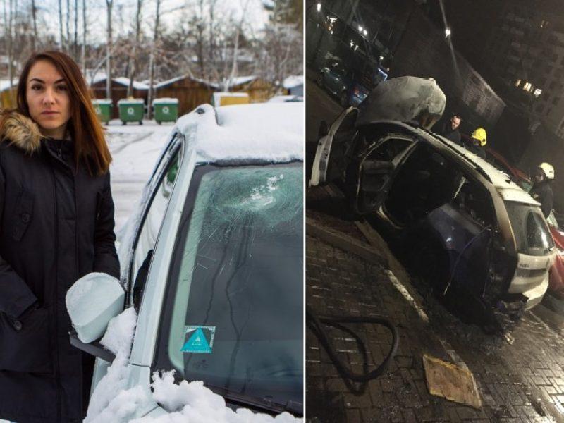 Košmaras tęsiasi: besiskiriančios moters automobilis supleškėjo kaip fakelas
