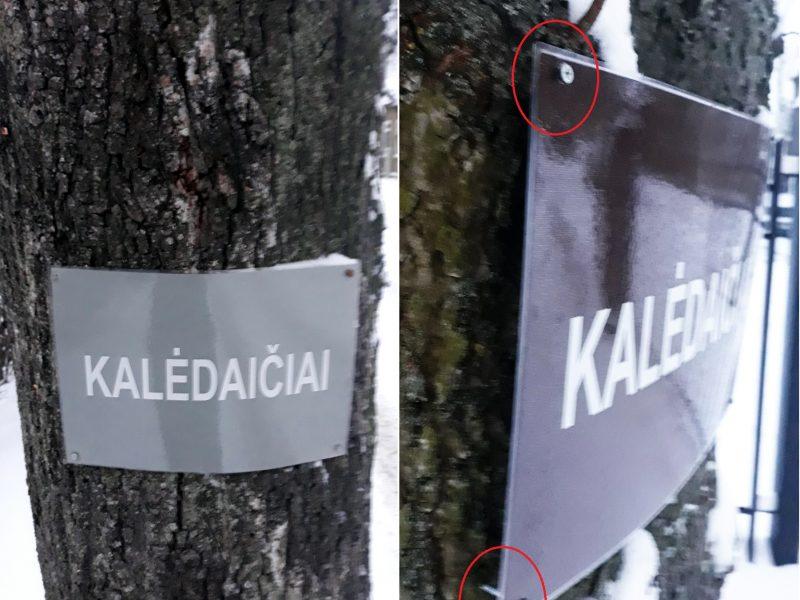 Pasipiktino: prie medžių prikalti dvasininkų skelbimai apie kalėdaičius