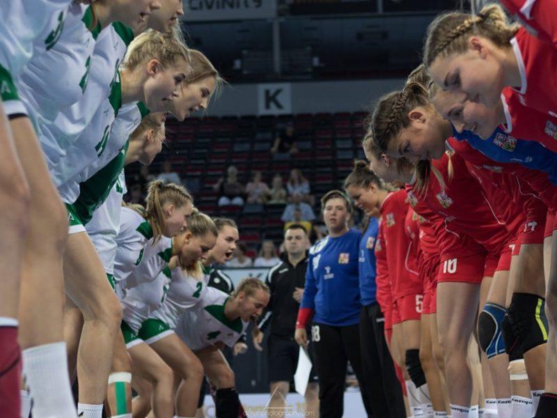Lietuvos 19-mečių merginų rankinio rinktinė Klaipėdoje kovos mažajame finale