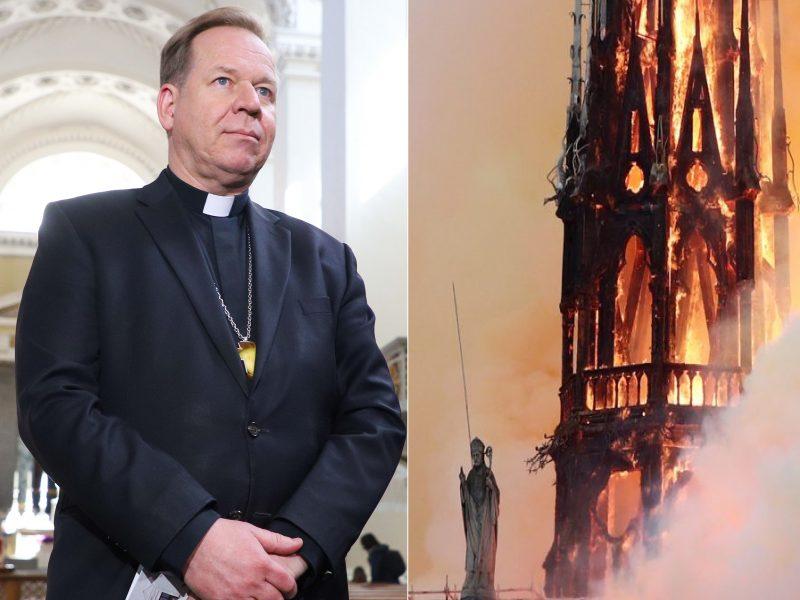 G. Grušas apie gaisrą Paryžiaus katedroje: niekas nėra visiškai apdraustas