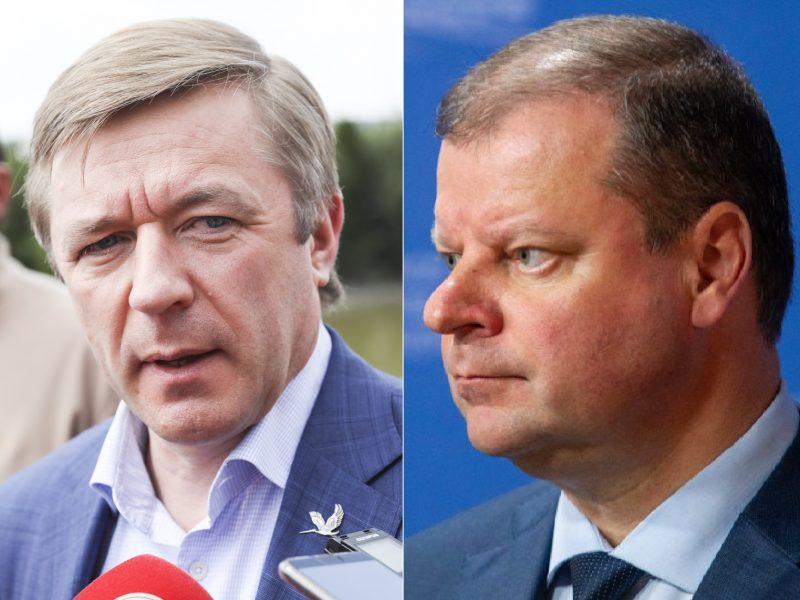 """R. Karbauskis įvertino S. Skvernelio kritiką """"valstiečiams"""": strateginis žingsnis"""