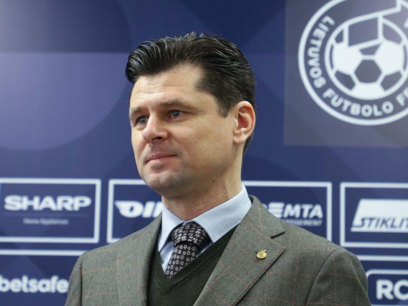 Lietuvos futbolo federacijos prezidentu perrinktas T. Danilevičius