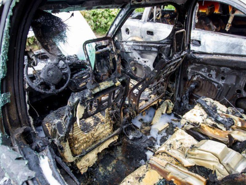 """Kaune supleškėjo """"Renault"""", įtariamas padegimas"""