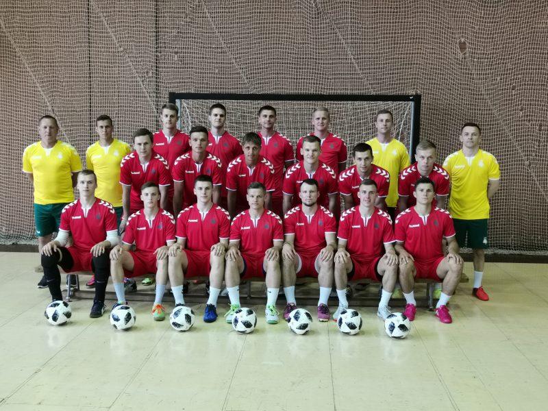 Geriausi Lietuvos salės futbolo žaidėjai tobulės specialiame centre