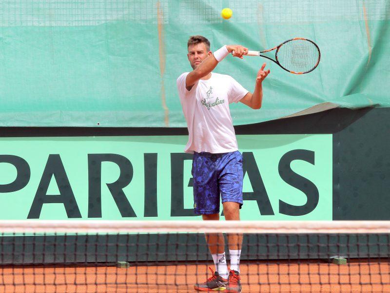 Tenisininkas L. Grigelis Libane iškopė į ketvirtfinalį