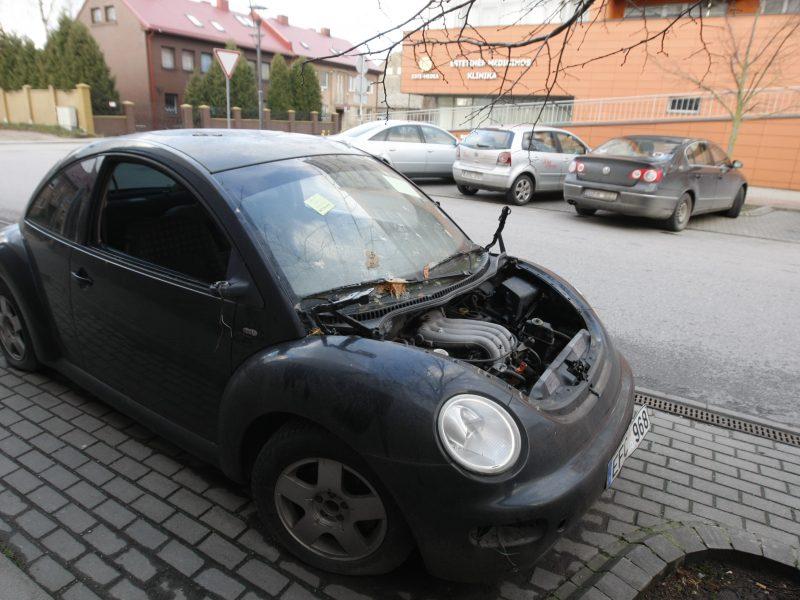 Apleisti automobiliai – ilgapirščių taikiklyje