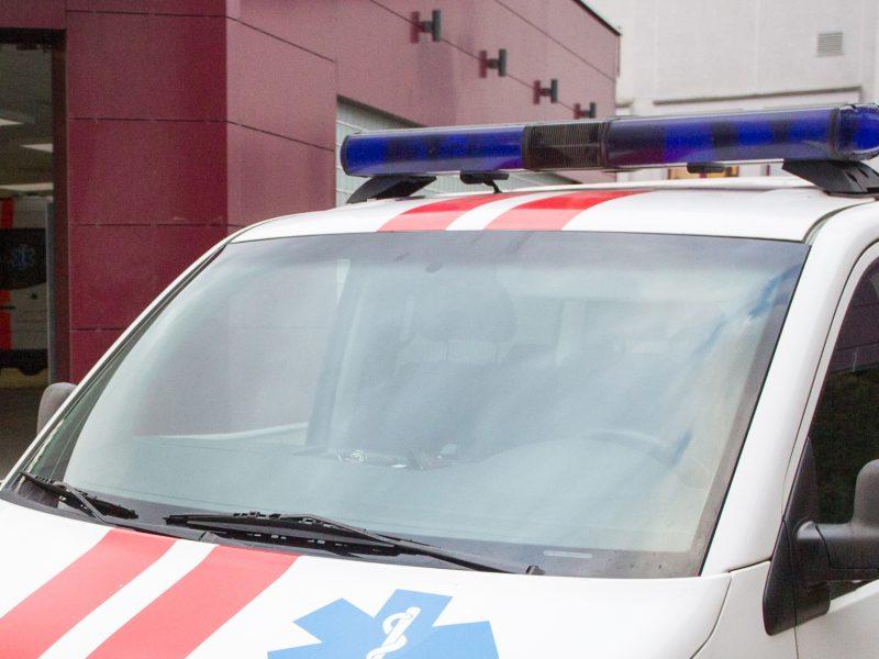 Panevėžio rajone nuo kelio nuvažiavo krovininis automobilis