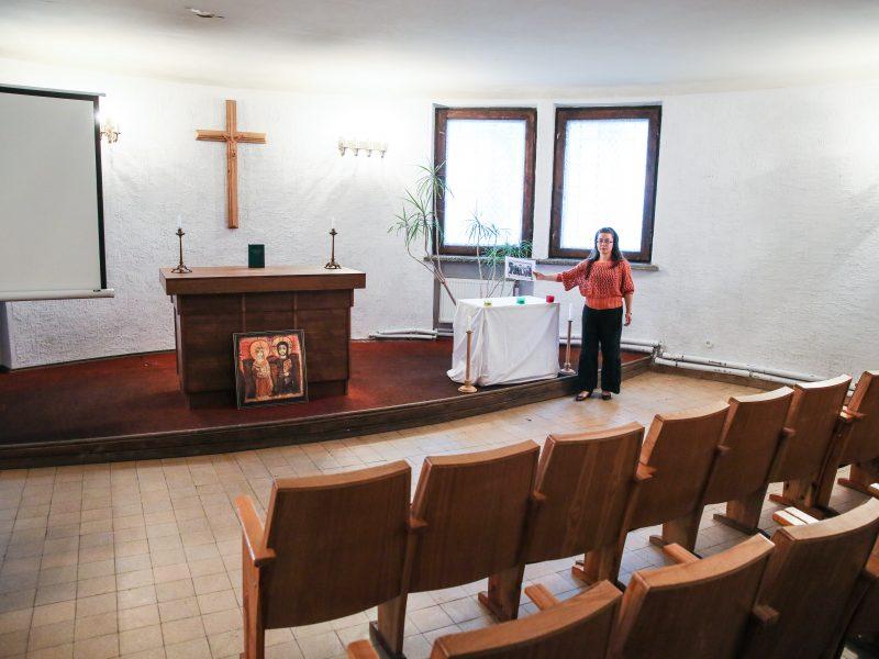 Ekskursija į koplyčią, kurioje buvo pašarvoti legendiniai lakūnai